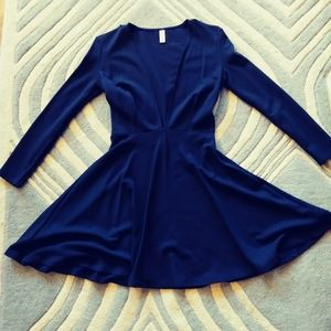 American Apparel nwot low cut Navy dress